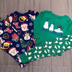Two Winter Pajamas Old Navy Children's Place
